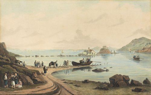 Joseph Cartwright - View of Pontikonisi, Corfu
