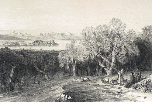 Edward Lear - View to the North from the Ascension Village