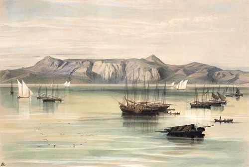 Edward Lear - Mount San Salvador (Pantokrator) from the South