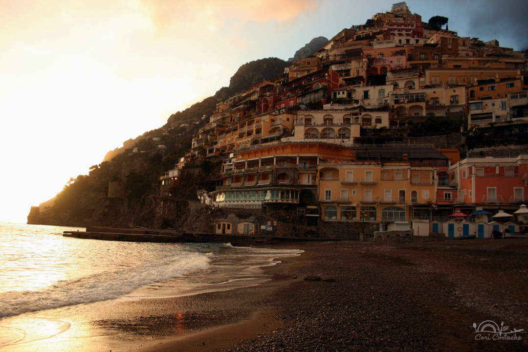 sunset on amalficoast