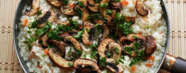 risotto cu ciuperci brune