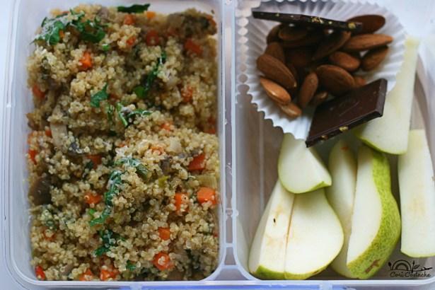Quinotto cu legume - lunchbox