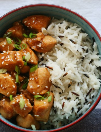 perfect honey soy chicken with wild basmati rice