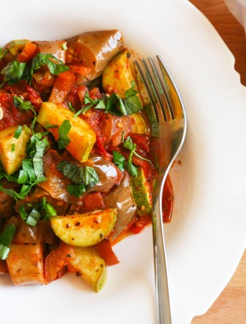 Summer Ratatouille with Chinese Eggplants
