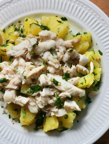 salata de cartofi cu salau la gratar
