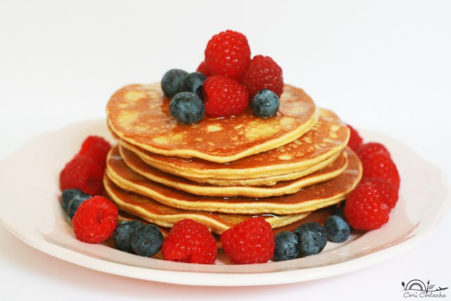coconut flour pancakes & wild berries