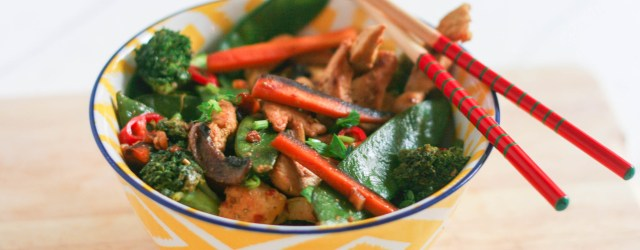 Easy Spicy Chicken & Veggie Stir Fry