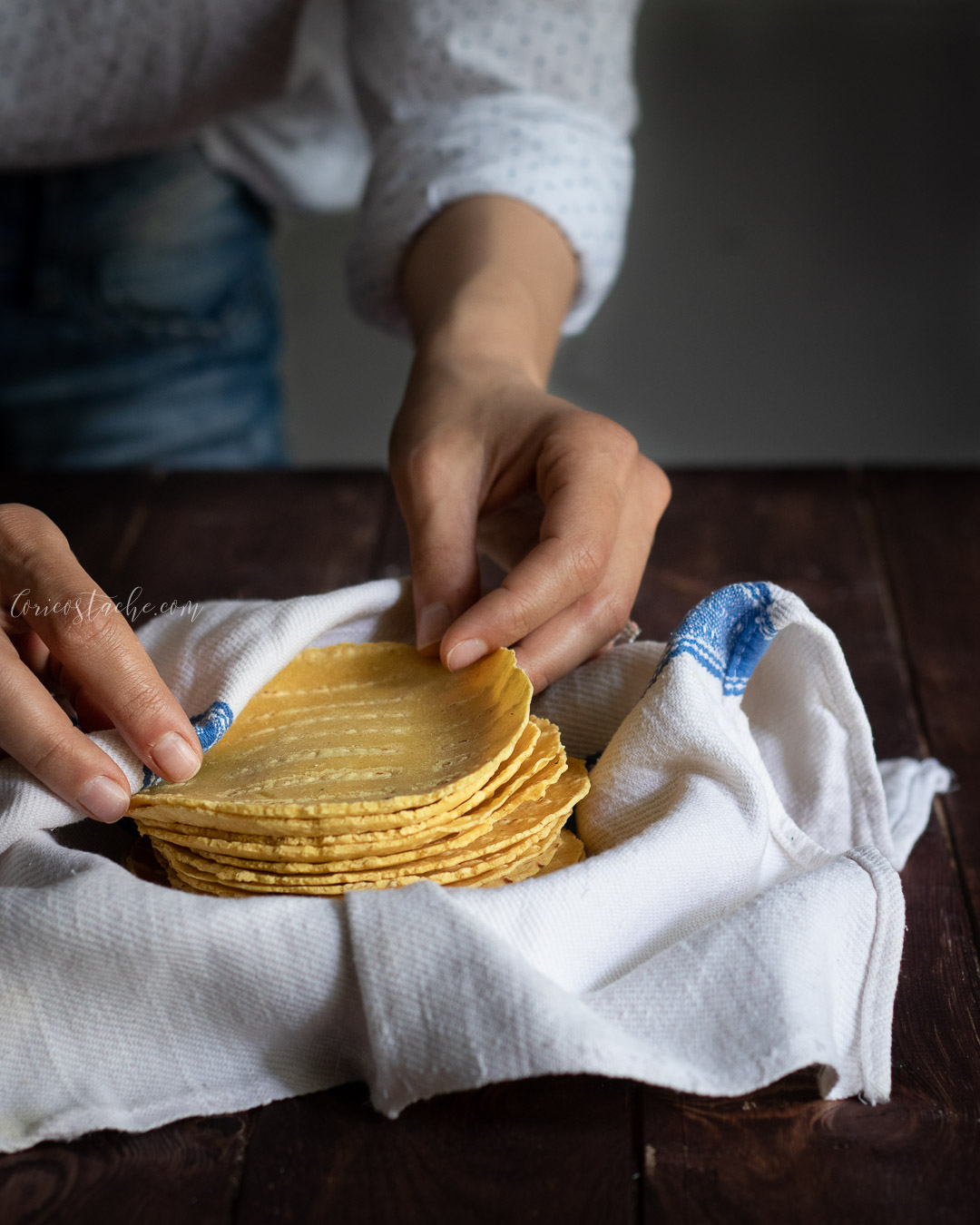 corn tortilla food photography