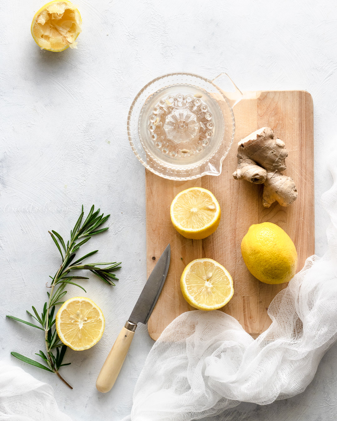 Ginger Lemonade With Rosemary & Thyme
