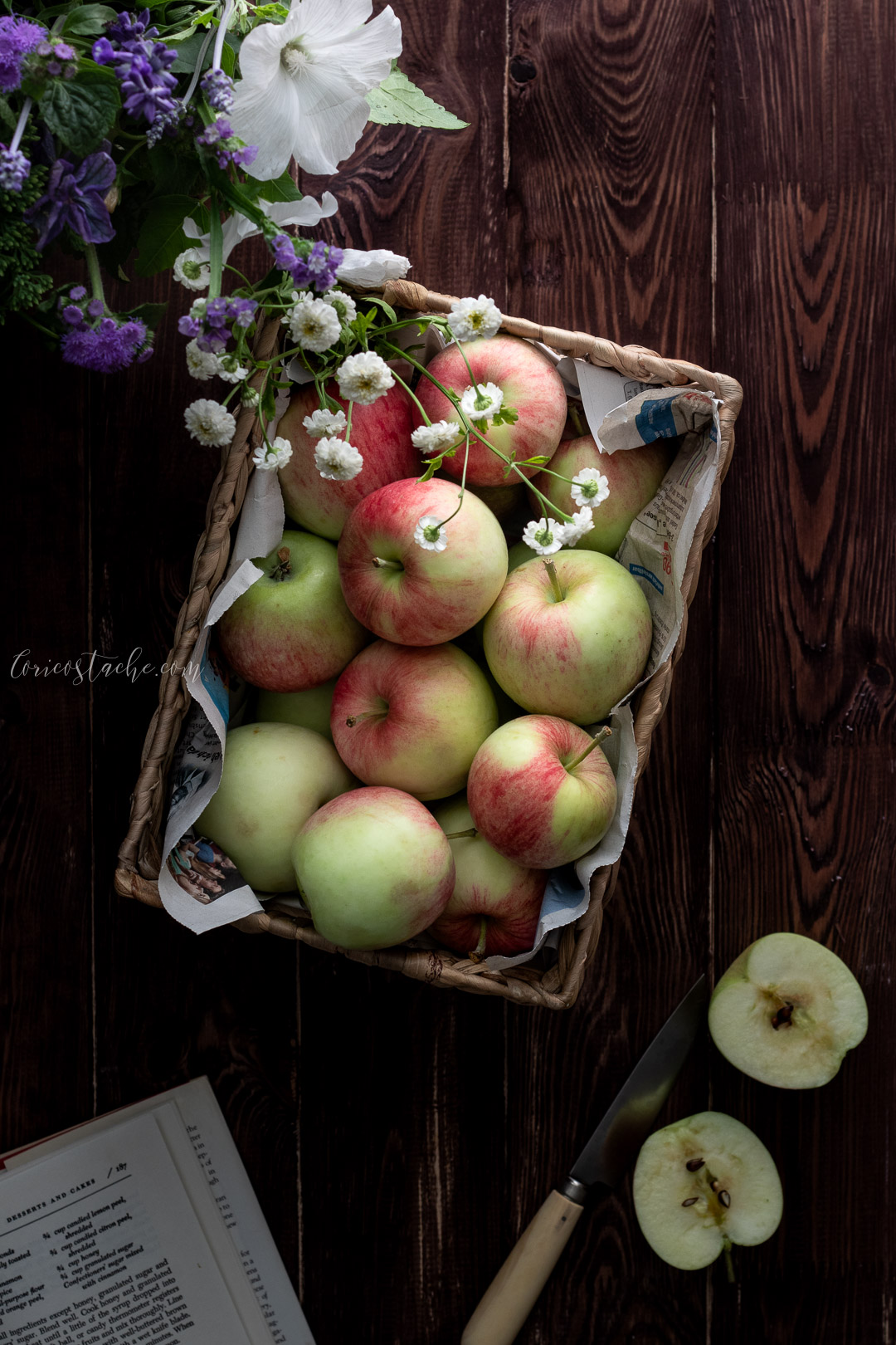 Summer apples food photography