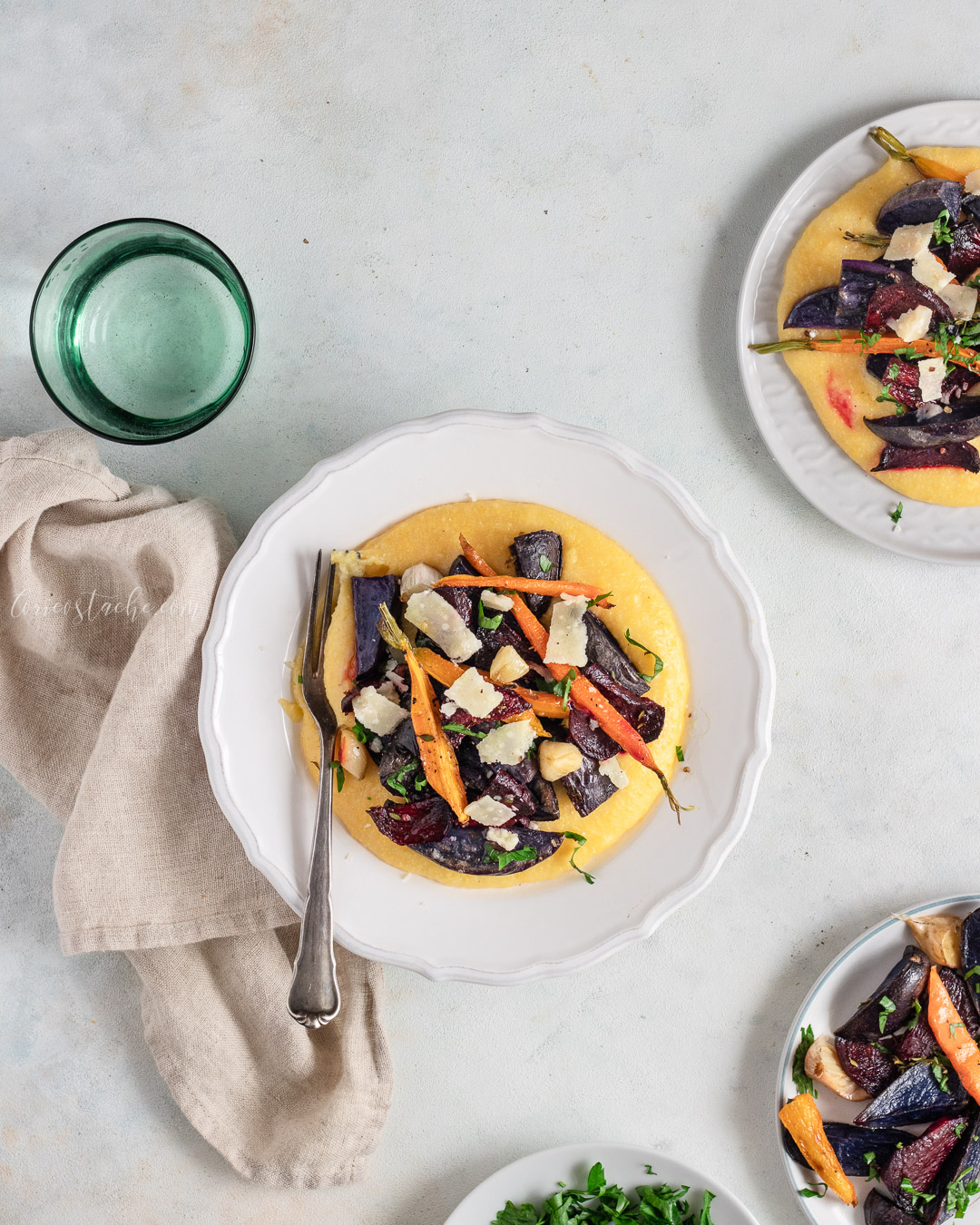 Creamy Polenta & Perfect Roasted Veggies