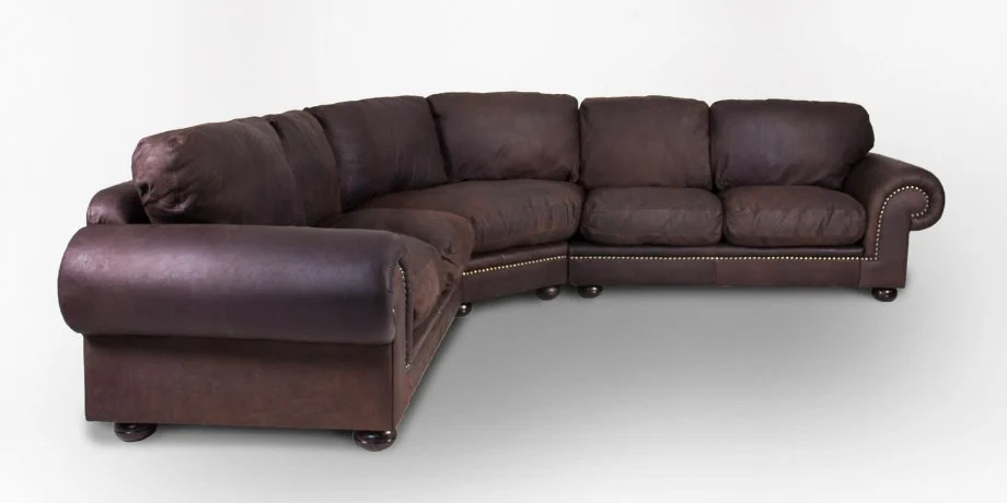 afrique leather corner couch with studs