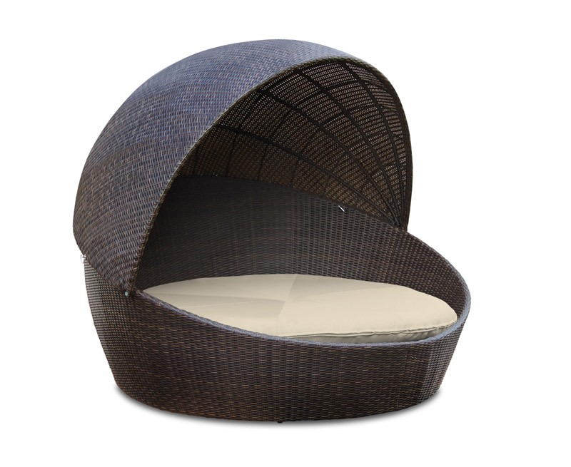 Oyster Wicker Rattan Daybed
