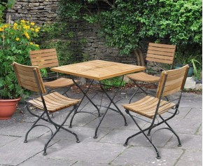 square dining table and chairs teak