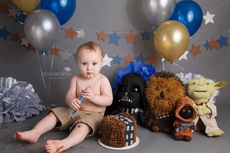 Star Wars First Birthday Cake Smash | Happy Birthday Jay