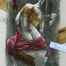 """Mujer Peinandose — Hand painted lithography — 22"""" x 30"""" — 1998 — $ 800"""