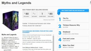 USA TODAY Bestseller - #85 Week of April 27, 2017