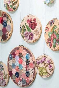 Embroidered Hoops (Colin Poole/HomeStyle Magazine)
