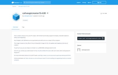 Layer7 Live API Creator v 5.4 docker image is available from Docker Hub.