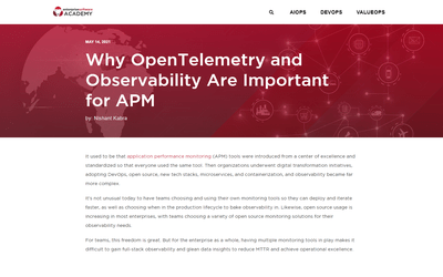 Why OpenTelemetry and Observability Are Important for APM