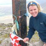 Lorraine at the Summit cross on Carrauntoohil