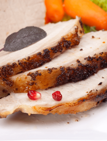 Pork Loin with Mustard Sauce