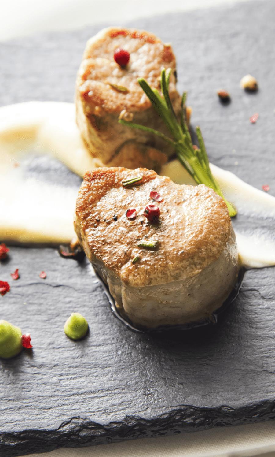 Pork Fillet with Sage and Cauliflower Mash