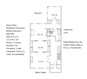 parlor floor plan at 631 macon st crg1104
