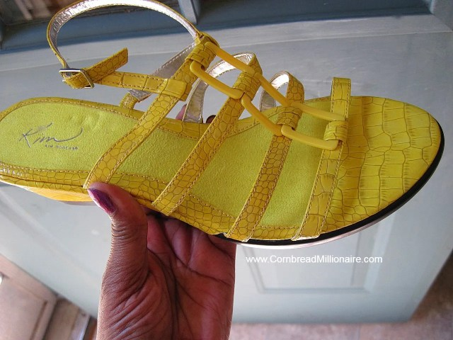 Shoes Yellow Sandals