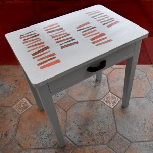 upcycled vintage table