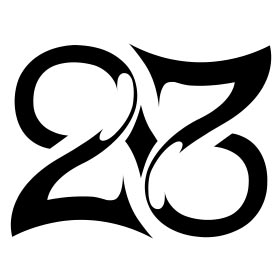 Ambigramm der Zahl 23