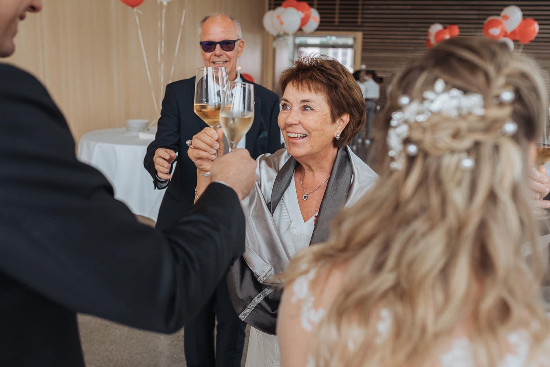 Brautpaar Apéro Gratulationen