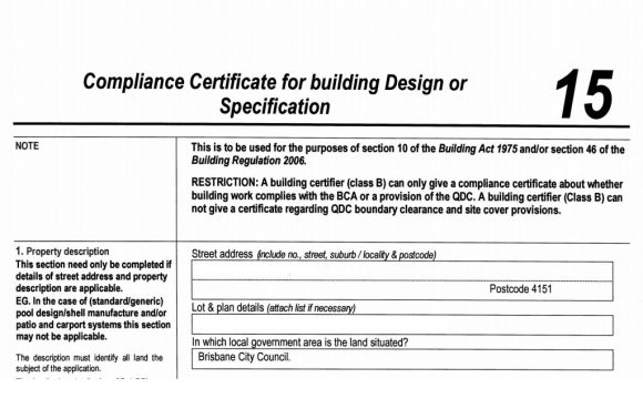 Sample Form 15 which is signed by a structural engineer