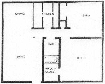 2 Bed / 1 Bath / 850 sq ft / Deposit: $550 / Rent: $1,425