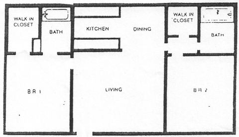 2 Bed / 2 Bath / 870 sq ft / Deposit: $600 / Rent: $1,525