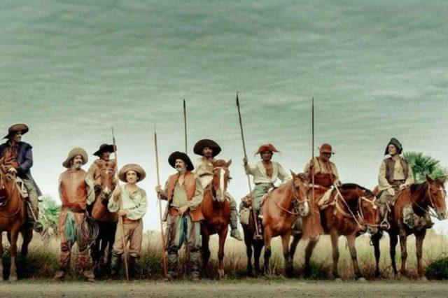 De bende van Vicuna te paard