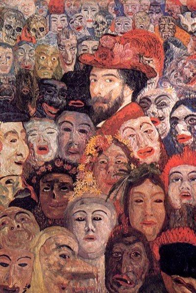 James Ensor, Zelfportret met maskers (1899)