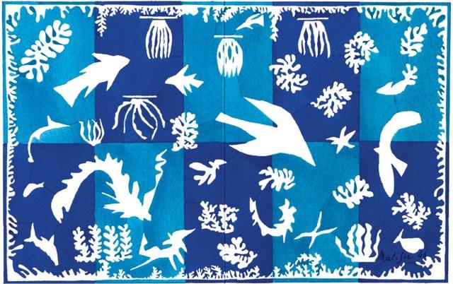 Henri Matisse, 'Polynésie, La mer', gouache op papieren uitsnede, 1946.