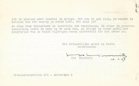 Facsimile van rectozijde brief nr. 7