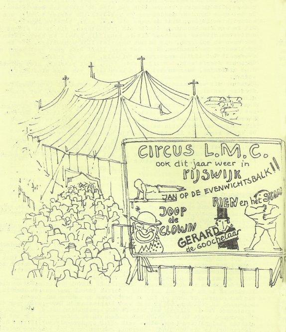 Tekening door Cornets de Groot in het laatste nummer van de vijfde jaargang.