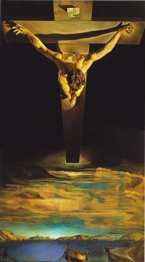 Salvador Dalí, El Christo de San Juan de la Cruz, 1951 (afbeelding niet bij oorspronkelijk artikel).