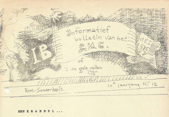 Door Cornets de Groot vormgegeven titel van het I.B.