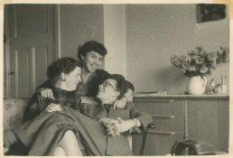 Oktober 1954, met Willy en Kitty