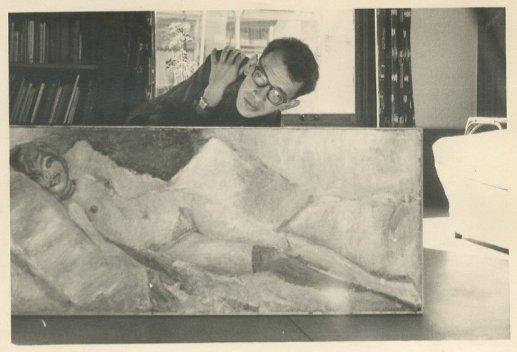 """Met eigen schilderij. """"Zomer 1959, Ru...."""""""