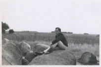 """Op vakantie in Drouwen, Drente, van 1-15 augustus 1964. """"Rondom de hunebedden van Drouwen"""""""
