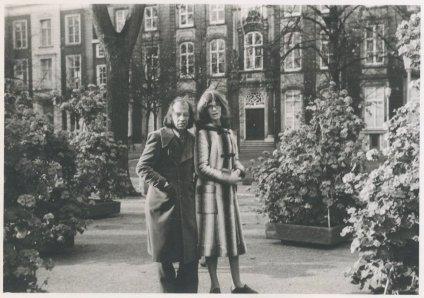 """Met Willy. """"6 november 1971. Najaarsfoto's op het Voorhout."""""""