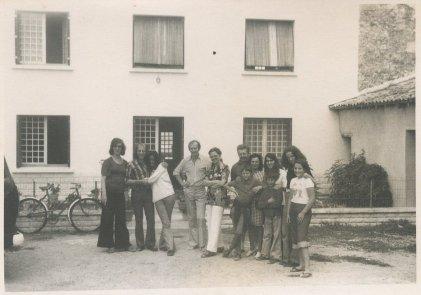 26 juli 1974, laatste dag in de Dordogne. Met Niki, vriendinnetje van Saskia.