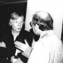 Met Louis Ferron na afloop van een lezing over Jan Elburg, Letterkundig Museum, 10 september 1986