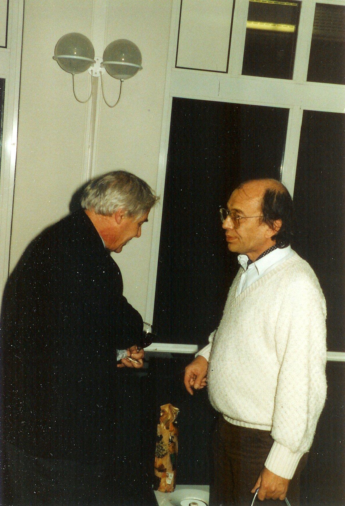 Met Lucebert, Letterkundig Museum, jaren 80