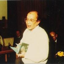 Bij de ontvangst van 'Ik predik de nadorst', januari 1986.